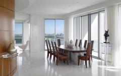 intérieur appartement blanc vue mer vacances de luxe