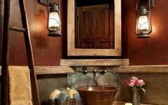 aménagement salle de bains rustique