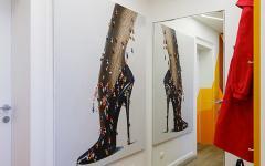 Intérieur design couloirs appartement moderne