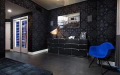 chambre de luxe en gris tendance moderne