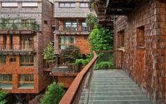 balcon immeuble appartement écologique