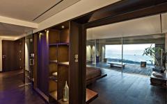 agencement duplex intérieur en bois exotique