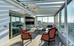 terrasse vitrée appartement duplex luxe