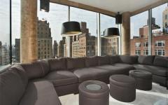 business salon vue sur manhattan immobililer de luxe