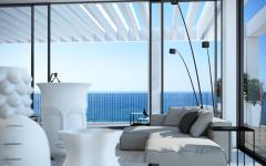 séjour illuminé au mobilier design