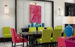 salle à manger aux couleurs pétillantes maison de luxe