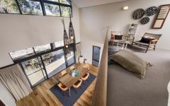 intérieur mezzanine design villa de vacances