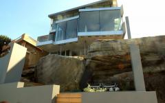 architecture résidentielle contemporaine maison principale sur la côte