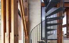 escalier design moderne intérieur agrandissement maison