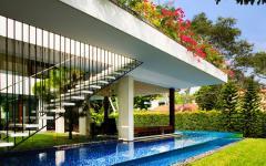 cadre exotique maison d'architecte durable