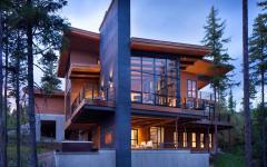 belle maison contemporaine et rustique