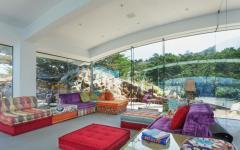 maison d'archi murs en verre