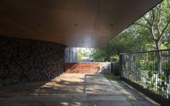 entrée principale maison d'architecte originale créative