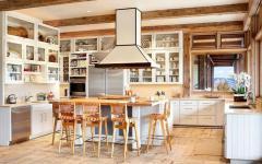 cuisine accueillante design déco montagnard