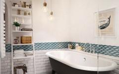 salle de bain baignoire design rétro