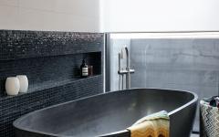 design baignoire salle de bains en gris