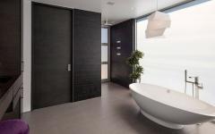 salle de bains de luxe baignoire design