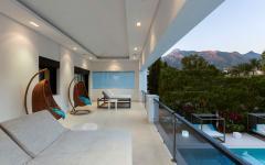 balcon avec vue maison familiale à louer vacances espagne