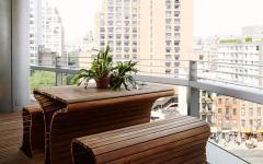 mobilier meuble en bois terrasse appartement de ville