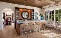 comptoir design rustique cuisine ouverte