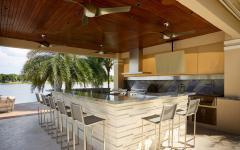bar ouvert en plein air résidence de luxe