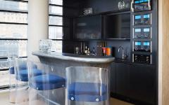 comptoir bar mobilier original design masculin loft triplex