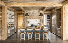 comptoir cuisine ouverte rustique design déco intérieur maison