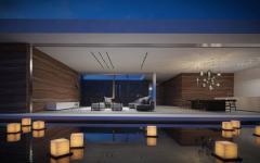 extérieur piscine de luxe éclairée