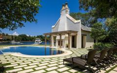 maison de vacances piscine à débordement luxe