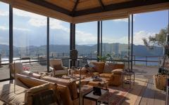 vue panoramique maison de charme rustique