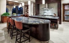 cuisine familiale marbre bois massif luxe