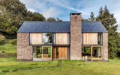 extérieur maison neuve rustique moderne architecte