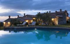 piscine grande propriété rustique vacances toscane italie