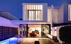 résidence à l'architecture contemporaine mitoyennes