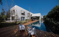 piscine extérieure maison de luxe familiale citadine