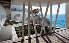 maison aux parisiennes vue sur mer