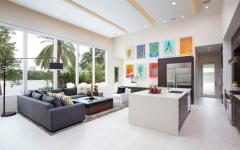 Séjour spacieux et lumineux de cette maison contemporaine