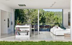 intérieur murs amovibles maison méditerranéenne
