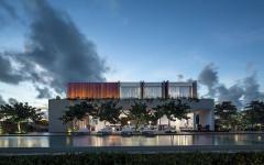 piscine de luxe maison de vacances contemporaine