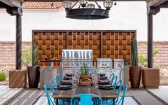 barbecue jardin piscine maison de luxe belle demeure