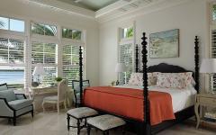 chambre au lit double design rustique vacances floride