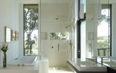 belle salle de bain moderne douche & baignoire marbre