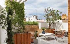 terrasse appartement de ville avec vue