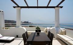 pergola villa avec vue sur mer