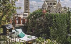 terrasse avec vue sur paris design déco meubles