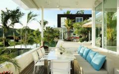 terrasse extérieure villa de luxe à louer