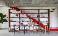 mobilier rustique minimaliste en bois exotique