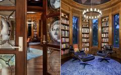 bureau bibliothèque maison toscane demeure de luxe manoir