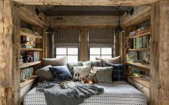 design rustique chambre aménagée sous le toit combles maison