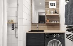 espace optimisé appartement de ville buanderie
